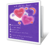 Missing You Dating & Love Printable Cards