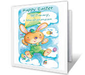 Happy Things for Grandson Easter Printable Cards