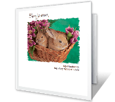 Husband and Special Love Easter Printable Cards