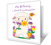 Sweet Wishes for Granddaughter Easter Printable Cards