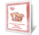 Wishes and a Hug Encouragement Printable Cards