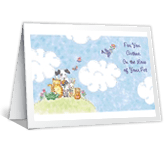 With Caring Thoughts Encouragement Printable Cards