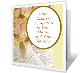 With Deepest Sympathy Encouragement Printable Cards