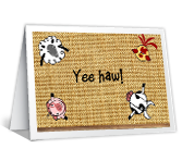 A Barnyard Father's Day Father's Day Printable Cards