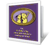 From Both of Us Father's Day Printable Cards