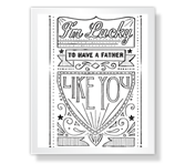 I'm So Lucky Father's Day Printable Cards