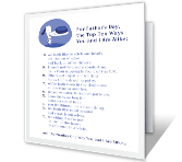 Top 10 List from Dog Father's Day Printable Cards