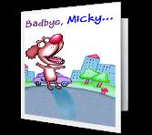 Bad-bye, Good-bye Good Bye Printable Cards
