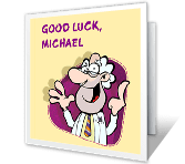 Skill, Talent & Brains Good Luck Printable Cards