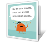 Graduation Questions Graduation Printable Cards
