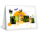 Happy Thoughts and Wishes Halloween Printable Cards