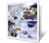 Beauty and Light Hanukkah Printable Cards
