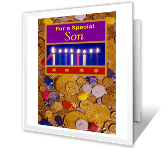 For a Special Son Hanukkah Printable Cards