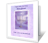 Love for Daughter Hanukkah Printable Cards