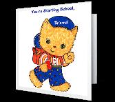 Starting School Holidays Printable Cards