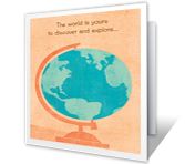 The World is Yours Holidays Printable Cards