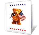 Miss You Independence Day Printable Cards