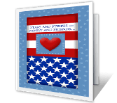 United Forever Independence Day Printable Cards