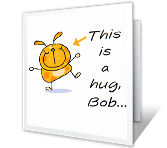 A Hug When You Need It Just Because Printable Cards