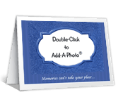 A Memory Isn't Enough Add-a-Photo Just Because Printable Cards