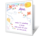 A Wish on the Wind Just Because Printable Cards