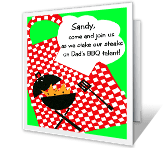 BBQ Cook-Out Just Because Printable Cards