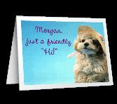 "Friendly ""Hi"" Just Because Printable Cards"