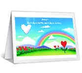 One Day at a Time Just Because Printable Cards
