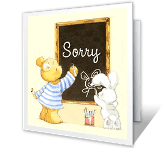 Please Forgive Me Just Because Printable Cards