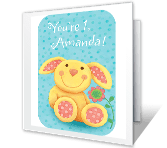 1st Birthday Girl Milestone Birthday Printable Cards