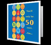 Forever Fun Milestone Birthday Printable Cards