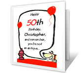 Milestone birthday cards print free at blue mountain happy 50th birthday bookmarktalkfo Image collections