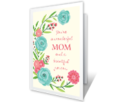A Wonderful Mom Mother's Day Printable Cards