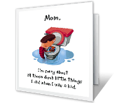 Dumb Things Mother's Day Printable Cards