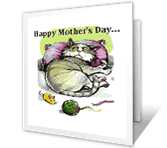 From the Cat Mother's Day Printable Cards