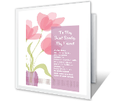 My Aunt, My Friend Mother's Day Printable Cards