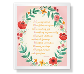 Motherhood Acrostic Poem Mother's Day Poems & Quotes Printable Cards