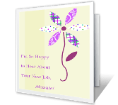 So Happy for You! New Job Printable Cards