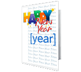 A Wonderful Year for You New Year's Day Printable Cards