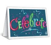 Celebrate Happy New Year New Year's Day Printable Cards