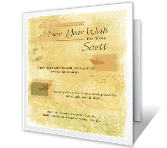 Health and Happiness New Year's Day Printable Cards
