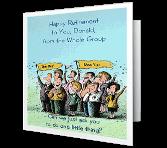 Take Us Along! Retirement Printable Cards