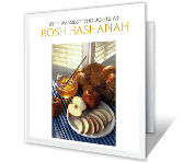 With Warmest Thoughts Rosh Hashanah Printable Cards