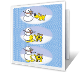 Hap-pee Holidays Season's Greetings Printable Cards