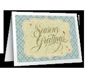 Warm Wishes for the Season Season's Greetings Printable Cards