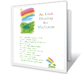 Blessing for Grandchild St. Patrick's Day Printable Cards