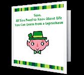 Leprechaun Lessons St. Patrick's Day Printable Cards