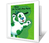 Wonderful Grandkid Activity Card St. Patrick's Day Printable Cards