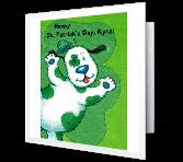 Wonderful Grandkid Activity Card St. Patrick's Day Printable Cards