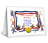 Coach of the Year Thank You Printable Cards